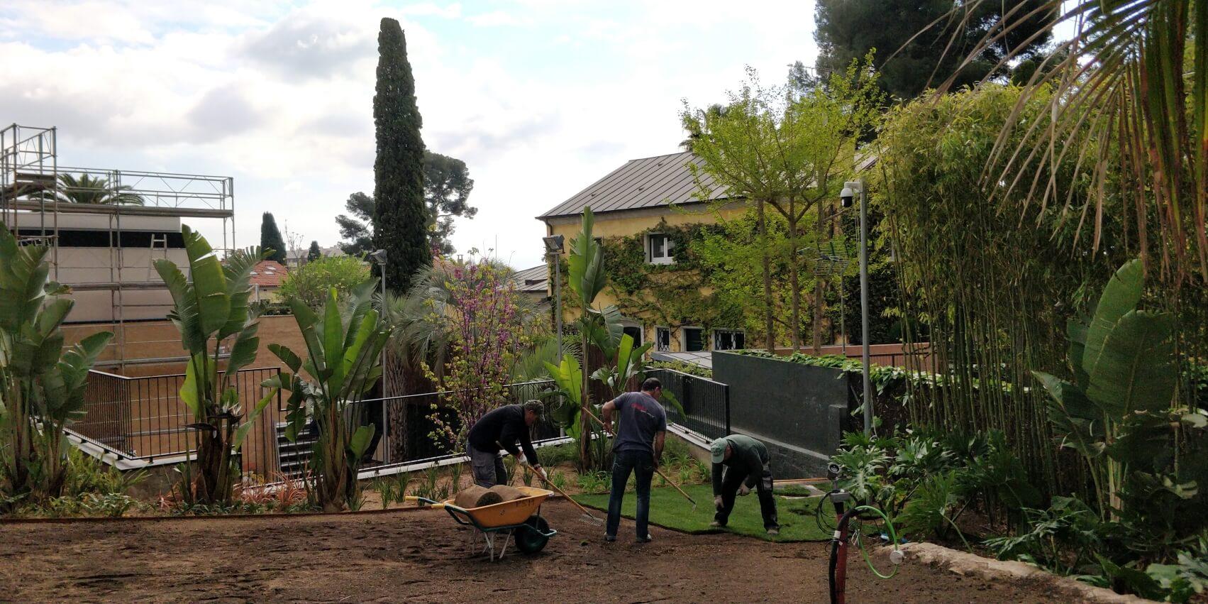 Construcción jardín PSM