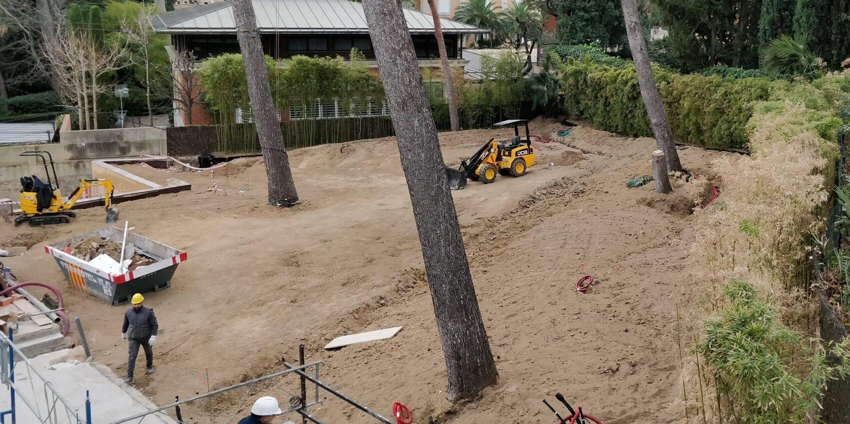 construcción jardín