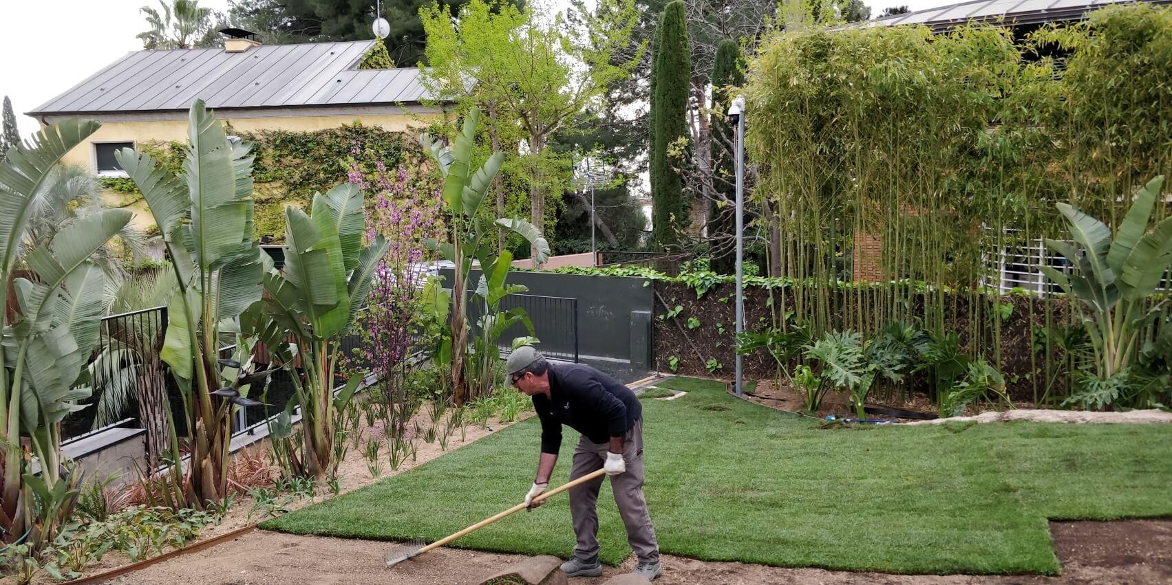 creación de jardín privado